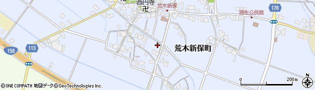 福井県福井市荒木新保町周辺の地図