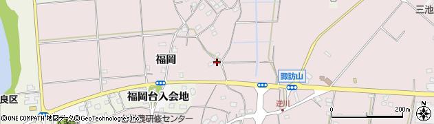 茨城県つくばみらい市台周辺の地図