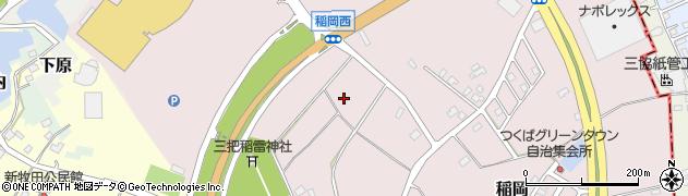 茨城県つくば市稲岡周辺の地図