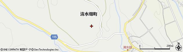 福井県福井市清水畑町周辺の地図