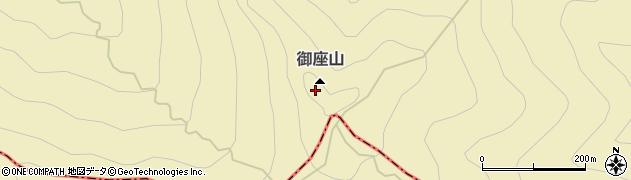 御座山周辺の地図