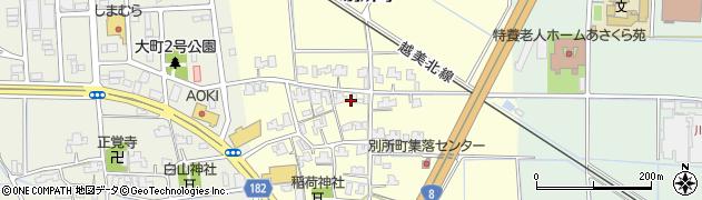 福井県福井市別所町周辺の地図