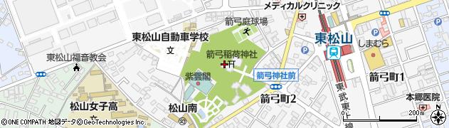 箭弓稲荷神社周辺の地図