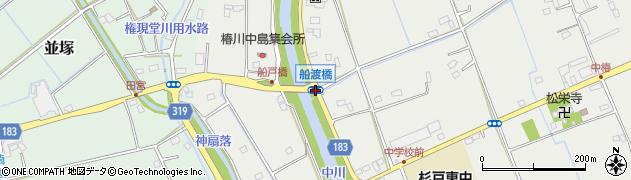船戸橋周辺の地図