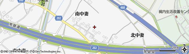 茨城県つくば市南中妻周辺の地図
