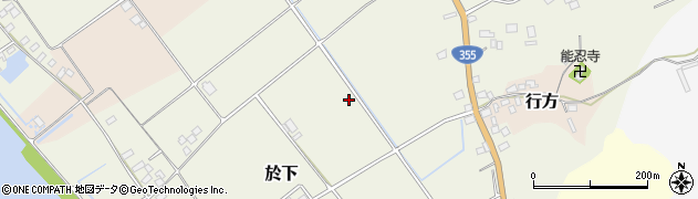 茨城県行方市於下周辺の地図