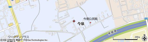 茨城県つくば市今泉周辺の地図