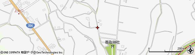 茨城県坂東市大口周辺の地図