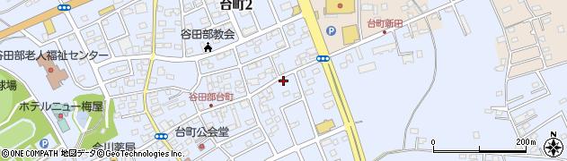茨城県つくば市台町周辺の地図