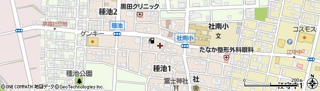 福井県福井市種池周辺の地図