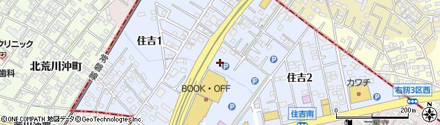 茨城県阿見町(稲敷郡)住吉周辺の地図