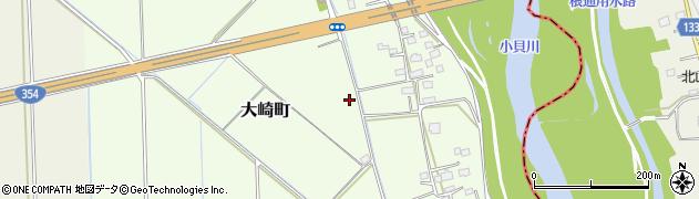 茨城県常総市大崎町周辺の地図