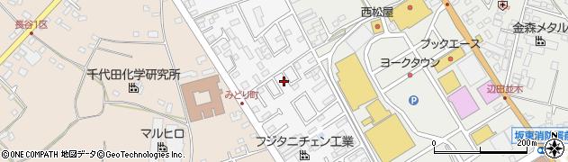 茨城県坂東市みどり町周辺の地図