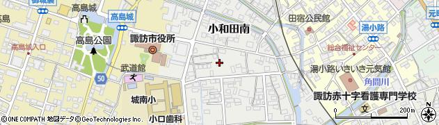 長野県諏訪市小和田南周辺の地図
