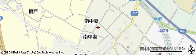 茨城県つくば市北中妻周辺の地図