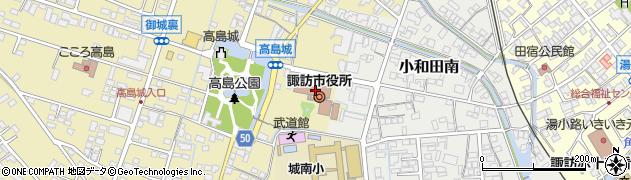 長野県諏訪市周辺の地図