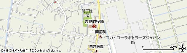 埼玉県比企郡吉見町周辺の地図