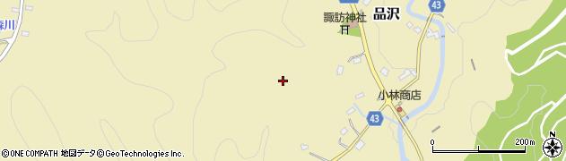 埼玉県秩父市品沢周辺の地図