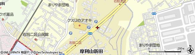 茨城県土浦市摩利山新田周辺の地図