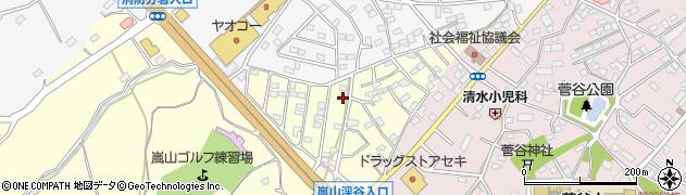 埼玉県比企郡嵐山町千手堂周辺の地図