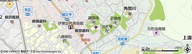 貞松院周辺の地図