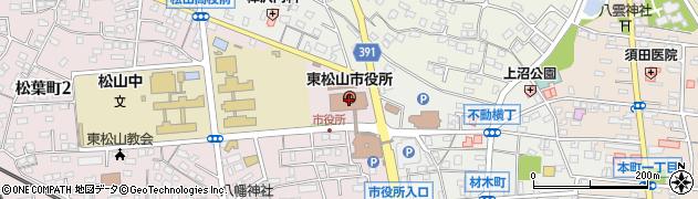 埼玉県東松山市周辺の地図