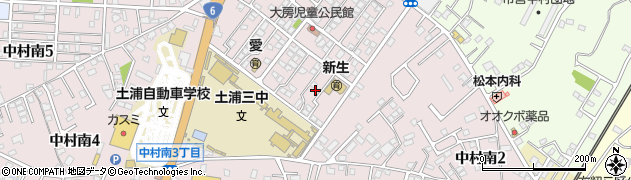 公文式中村教室周辺の地図