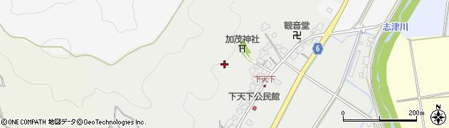 福井県福井市下天下町周辺の地図