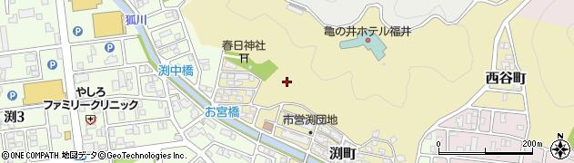 福井県福井市渕町周辺の地図