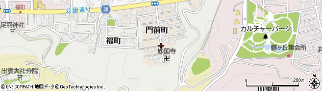 福井県福井市門前町周辺の地図