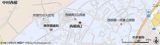 茨城県土浦市西根南周辺の地図