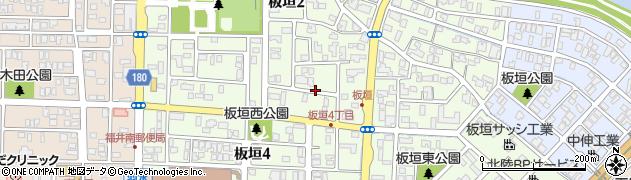 福井県福井市板垣周辺の地図