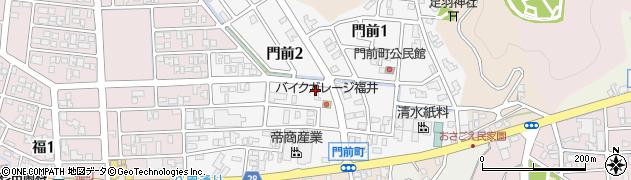 福井県福井市門前周辺の地図
