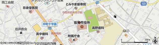 茨城県坂東市周辺の地図