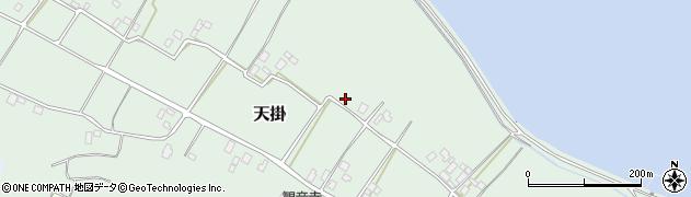 茨城県行方市天掛周辺の地図