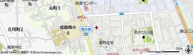 福井県勝山市旭毛屋町周辺の地図