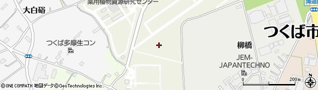 茨城県つくば市八幡台周辺の地図