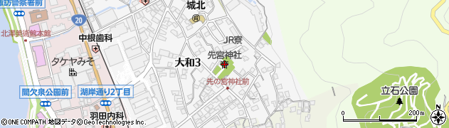 先宮神社周辺の地図