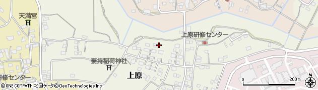茨城県つくば市上原周辺の地図