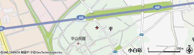 茨城県つくば市平周辺の地図