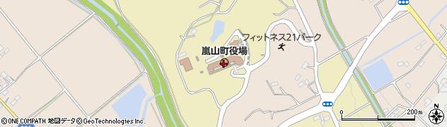 埼玉県比企郡嵐山町周辺の地図
