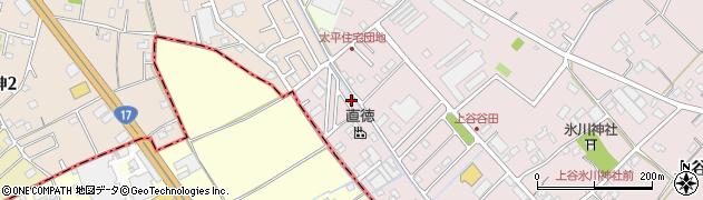 埼玉県鴻巣市上谷周辺の地図
