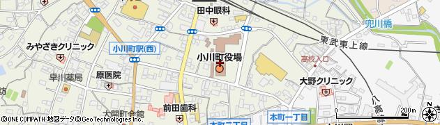埼玉県比企郡小川町周辺の地図