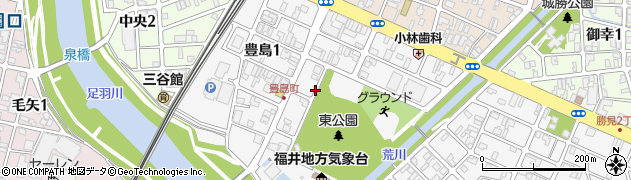 福井県福井市豊島周辺の地図
