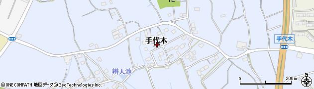 茨城県つくば市手代木周辺の地図