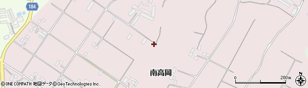 茨城県行方市南高岡周辺の地図