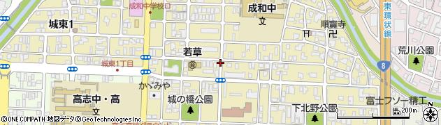 福井県福井市城東周辺の地図