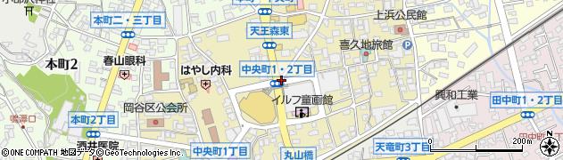 長野県岡谷市中央町周辺の地図