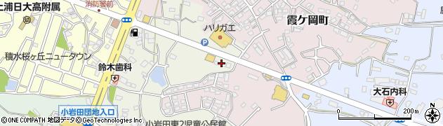 読売新聞土浦霞ヶ岡周辺の地図