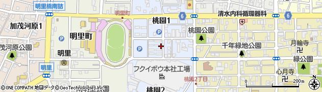 福井県福井市桃園周辺の地図
